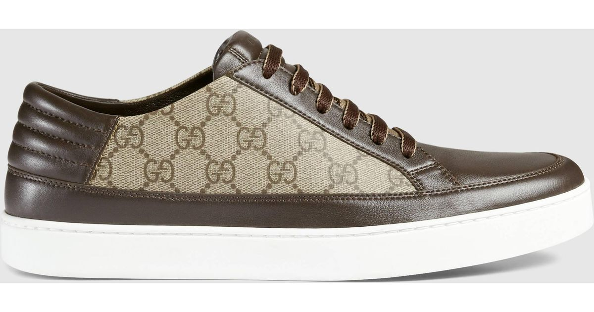 1792ab77611 Gucci Gg Supreme Sneaker in Brown for Men - Lyst