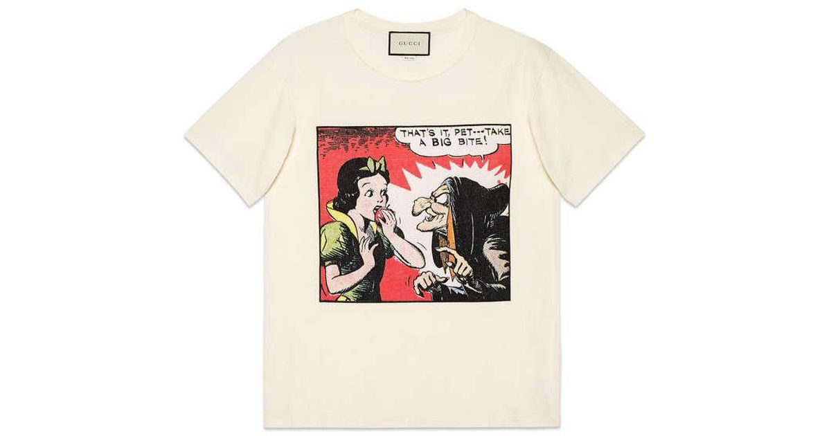 52e11f116 Gucci Snow White Cotton T-shirt in White for Men - Lyst