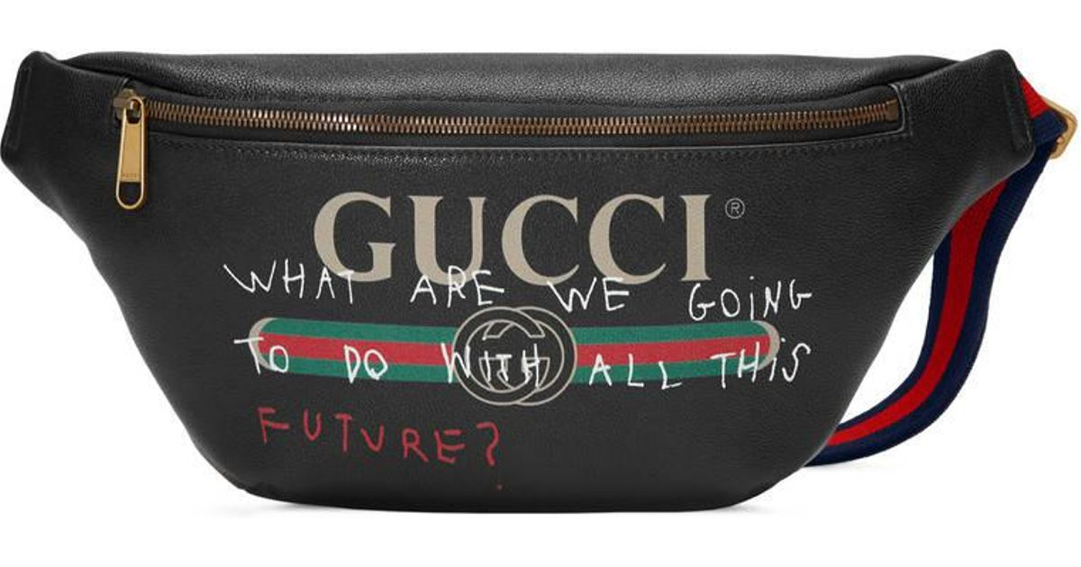 67ae0da01f2 Gucci Coco Capitán Logo Belt Bag in Black for Men - Lyst