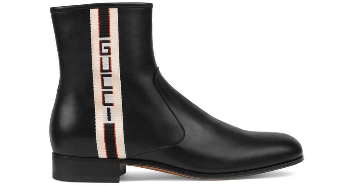 mpz76dxitd Stripe leather boots