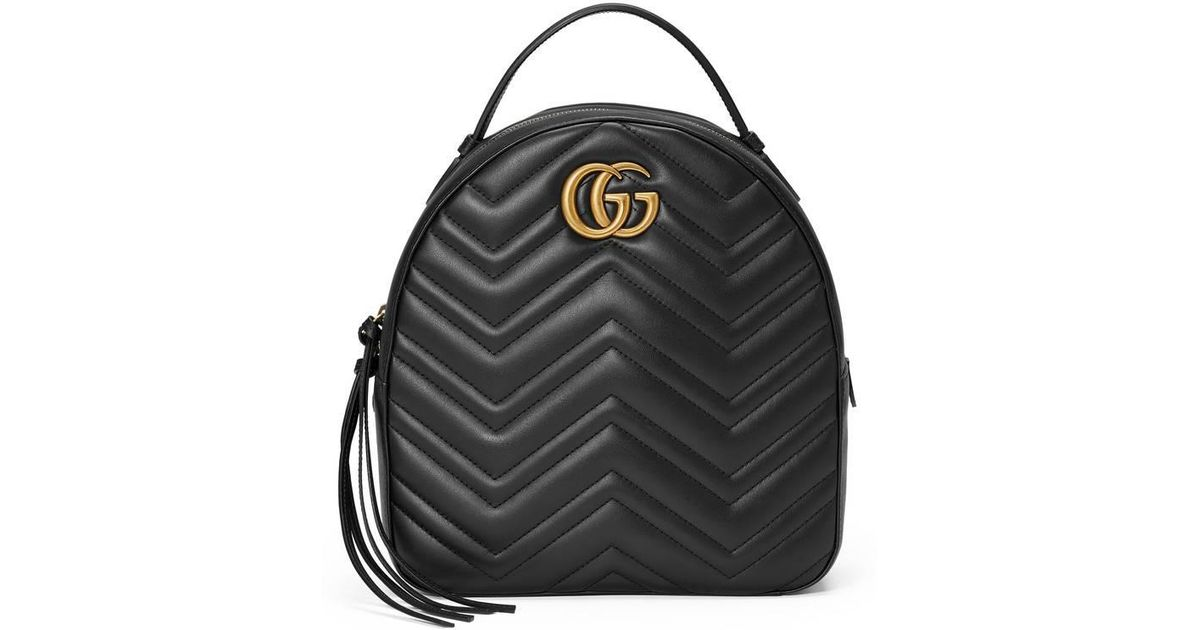 57e5fb99842 Lyst - Gucci Gg Marmont Quilted Leather Backpack in Black