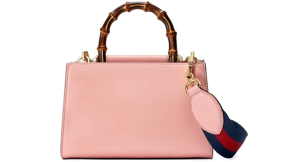 74e42a840 Gucci Nymphaea Leather Mini Bag in Pink - Lyst