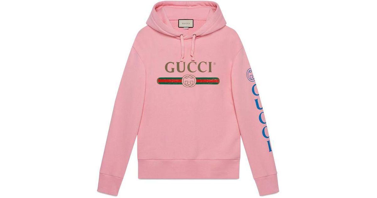 e552d2afe717 Lyst - Sweat-shirt avec logo et dragon Gucci pour homme en coloris Rose
