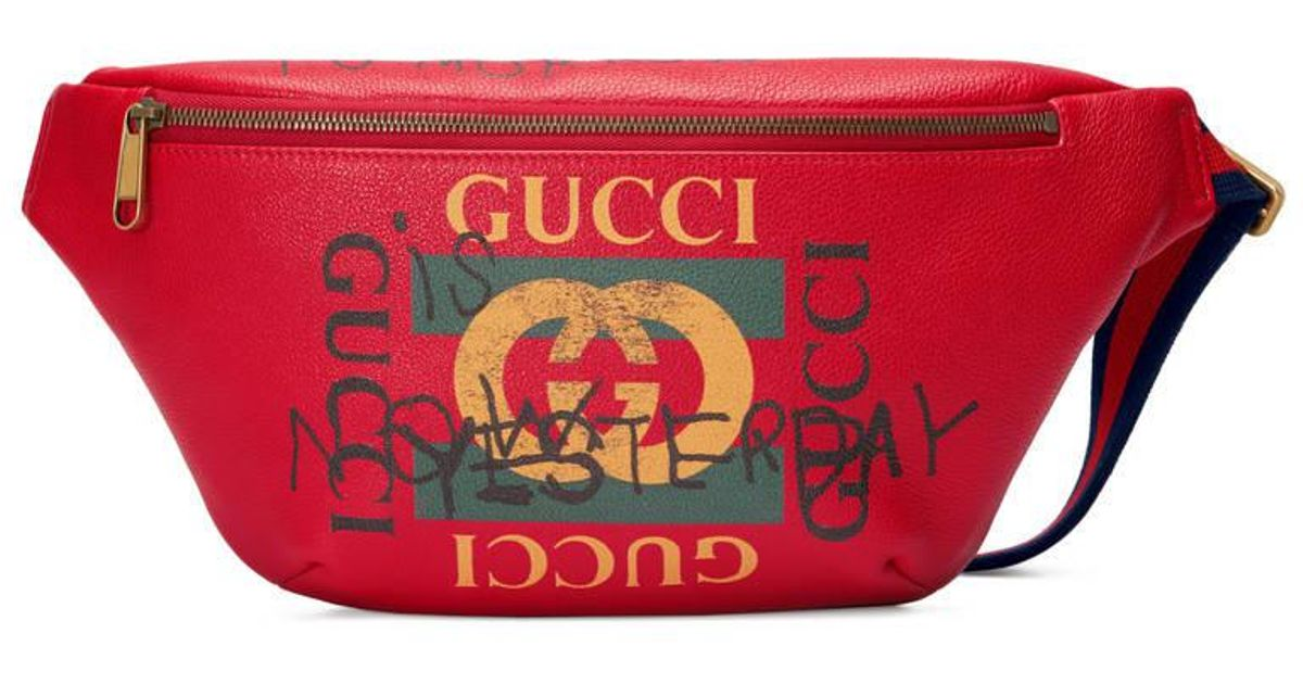 617d07d4d2c8 Gucci Coco Capitán Logo Belt Bag in Red - Lyst