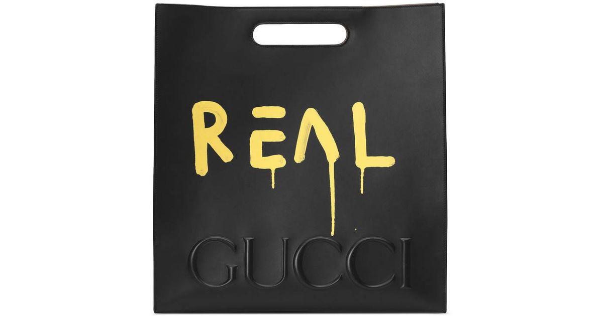 d6440fa6bde5 Gucci Ghost Tote in Black - Lyst