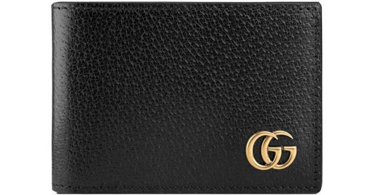 f17be0085649 Lyst - Gucci Gg Marmont Leather Bi-fold Wallet in Black for Men