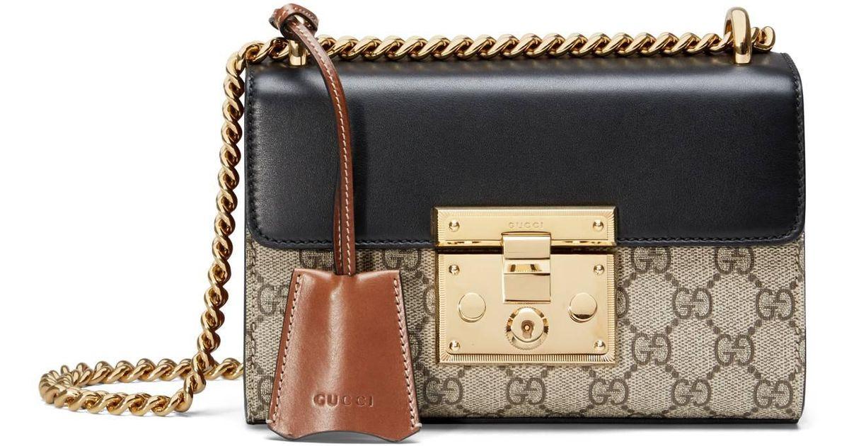 dd8acdd92b Gucci - Brown Padlock Small GG Shoulder Bag - Lyst