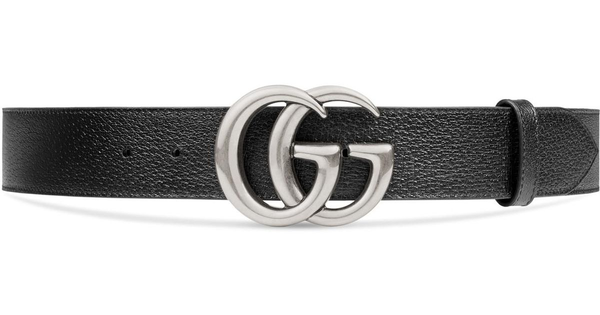 db814d3597a Lyst - Gucci Leather Belt With Double G Buckle in Black for Men