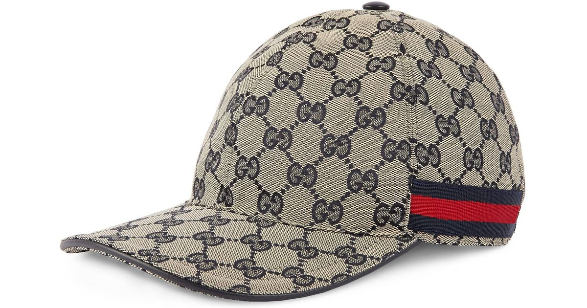 e246ede2034 Lyst - Gucci Gg Canvas Baseball Hat in Natural