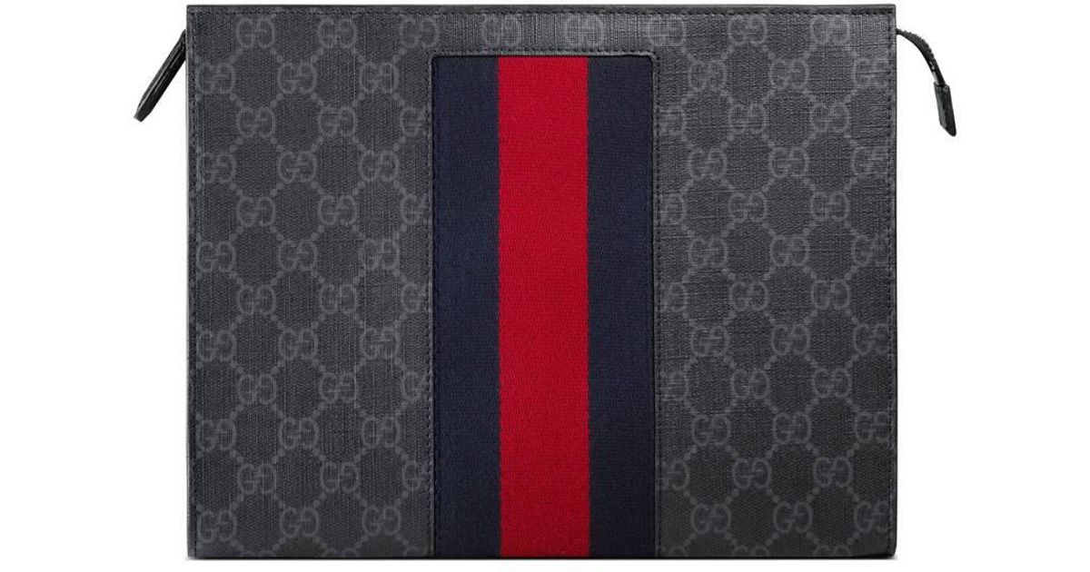 fa027819293 Lyst - Pochette suprême GG à bande Web Gucci pour homme