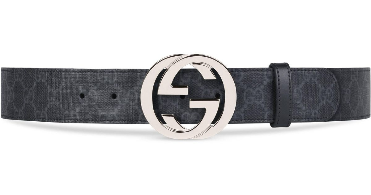 be93957f580 Gucci GG Supreme Belt With G Buckle in Black for Men - Save 17% - Lyst