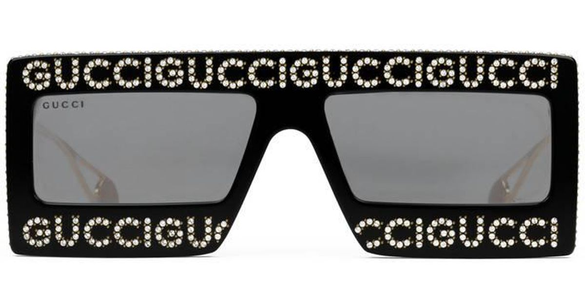 f0f0288152b82 Gucci Mask-frame Acetate Sunglasses in Black - Lyst