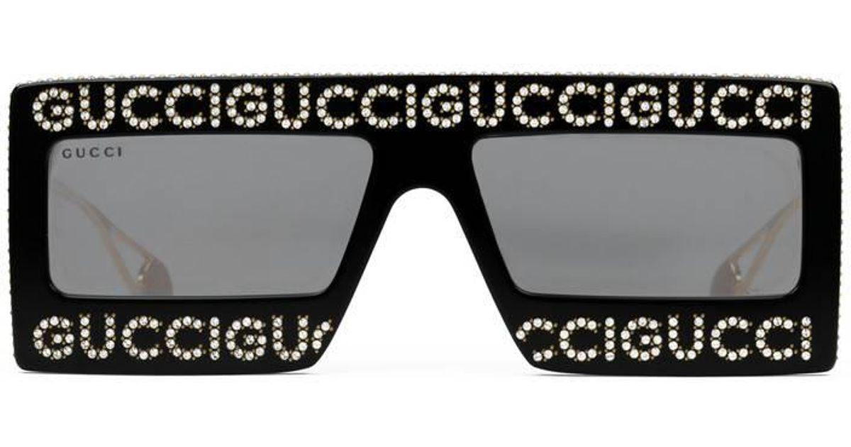990b030309 Lyst - Gucci Mask-frame Acetate Sunglasses in Black