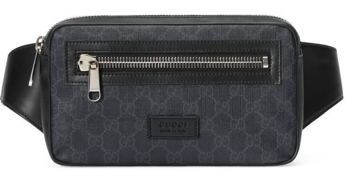 ad78d70d083 Lyst Gucci Soft Gg Supreme Belt Bag In Black For Men