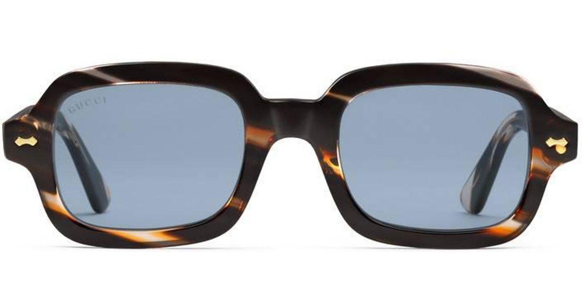 847245e25e443 Gucci Rectangular-frame Acetate Glasses for Men - Lyst