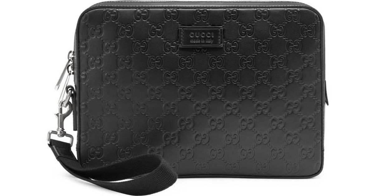ee7868645c1c Gucci Signature Leather Men s Bag in Black for Men - Lyst