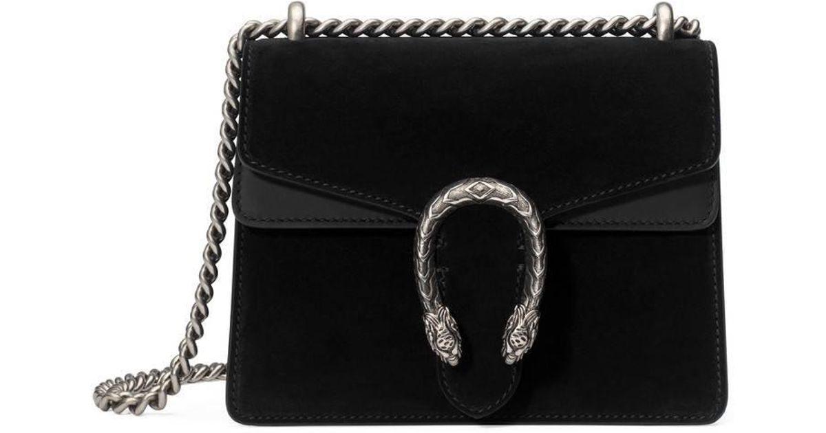 ed5be7a465c025 Lyst - Gucci Dionysus Suede Mini Bag in Black