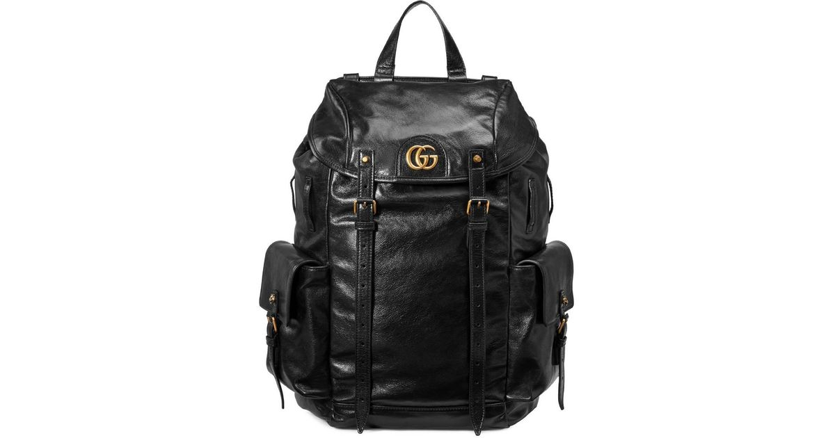 632036cdc9d Lyst - Gucci Re(belle) Leather Backpack in Black for Men