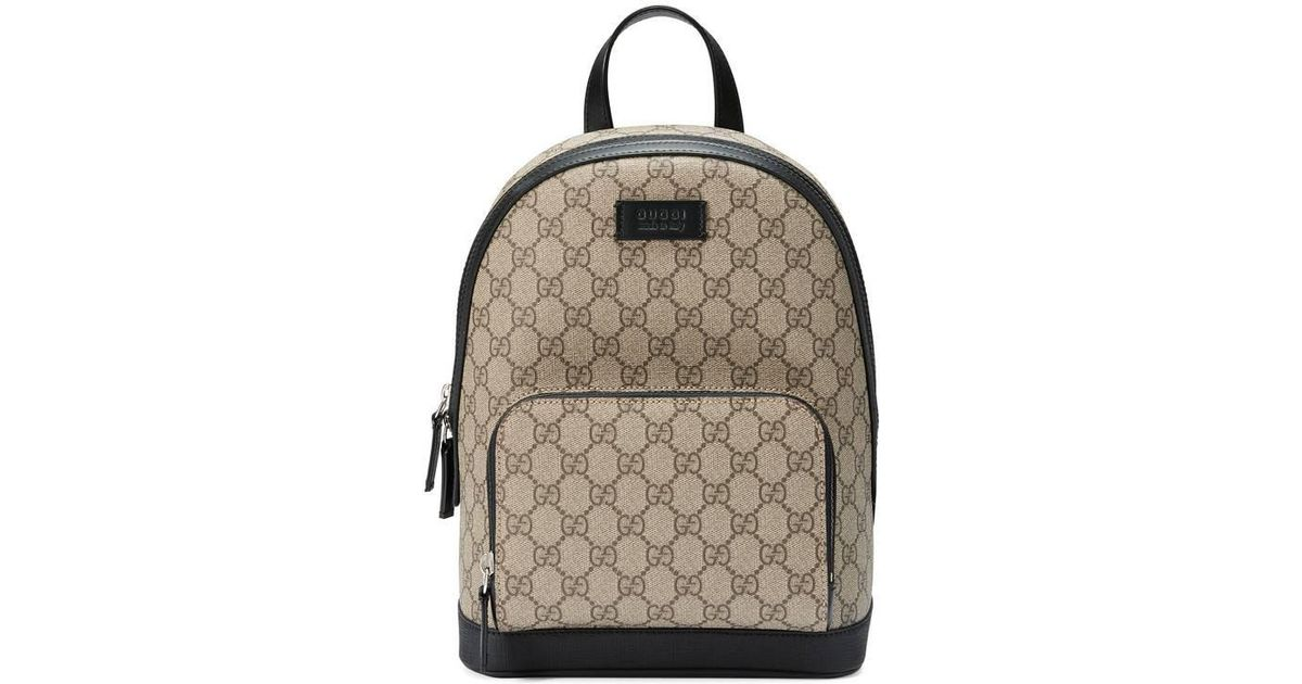 28a09e2a18bb Lyst - Gucci Gg Supreme Small Backpack in Black