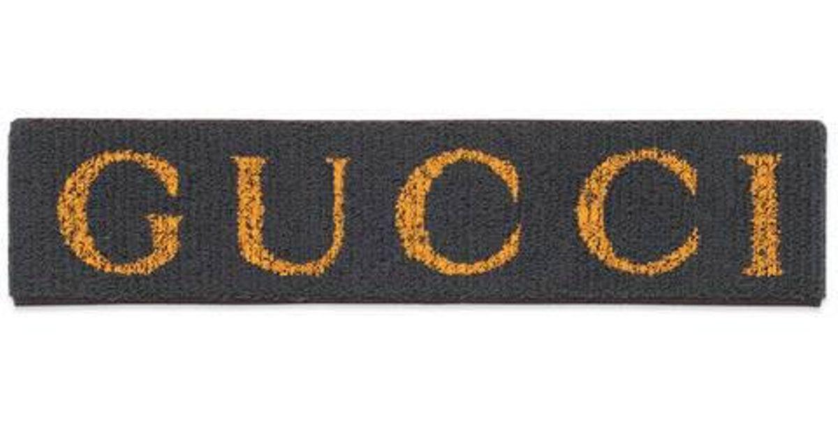 Lyst - Gucci Elastic Headband in Black 2b7f1d60f0c