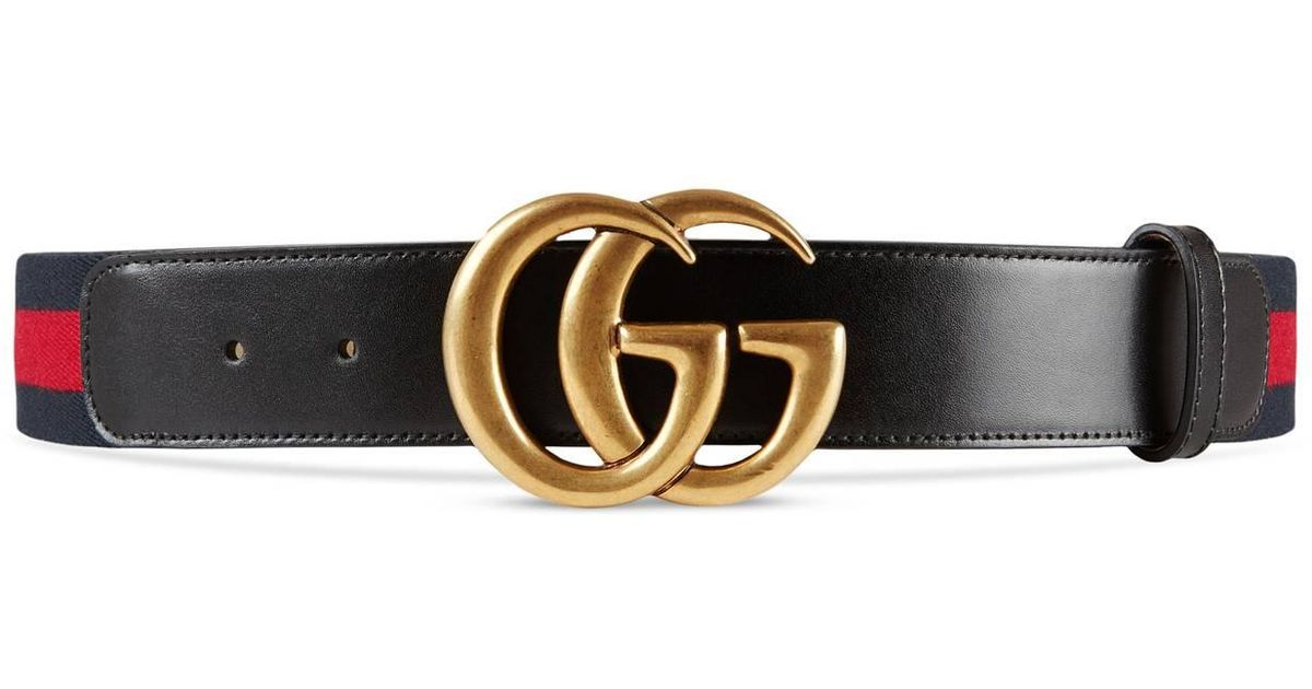 292019bd14d Lyst - Gucci Nylon Web Belt With Double G Buckle