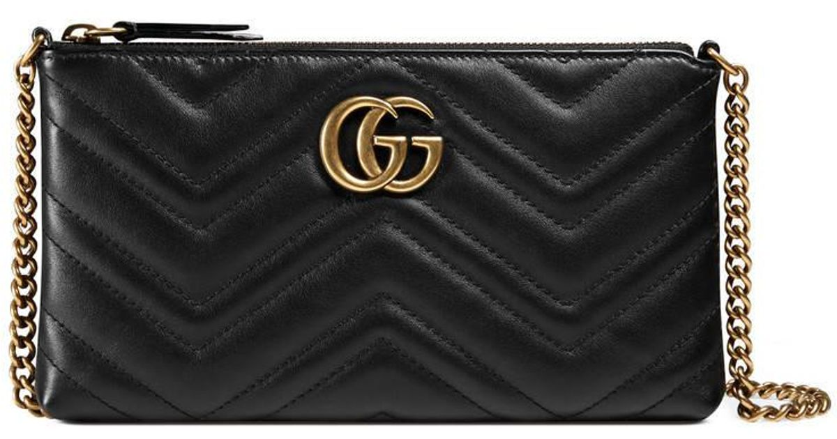 9e8d9f46533463 Gucci Gg Marmont Mini Chain Bag in Black - Lyst