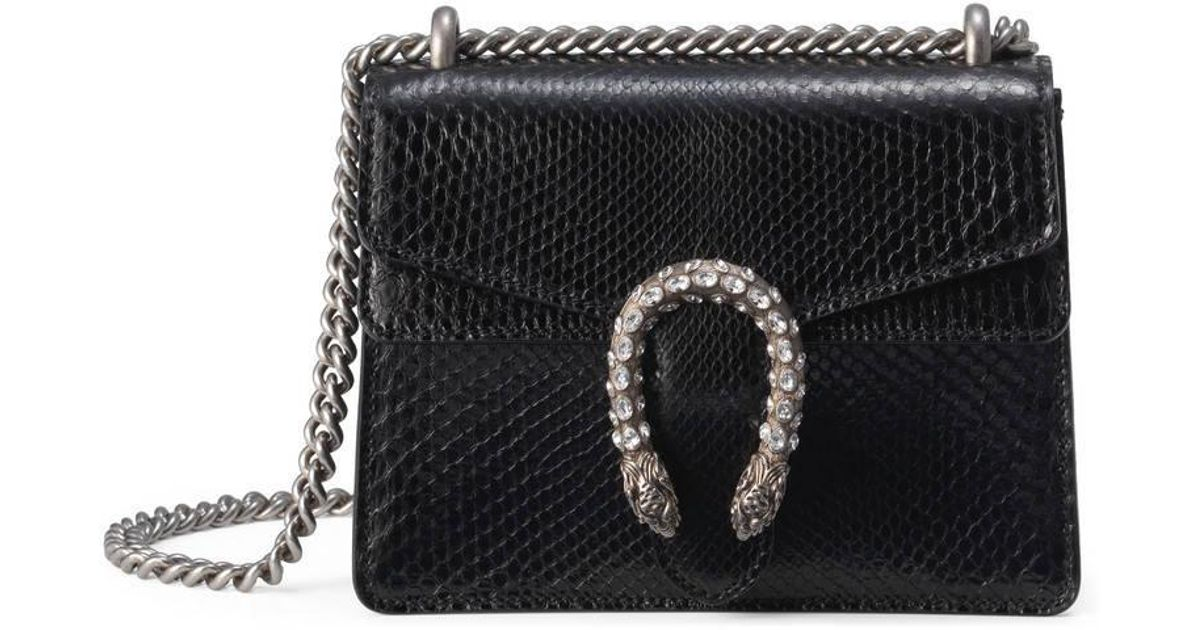 1585158149 Gucci Dionysus Python Mini Bag in Black - Lyst