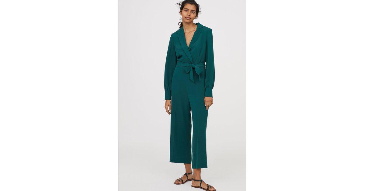 17dbf9350698 Lyst - H M Crêped Jumpsuit in Green