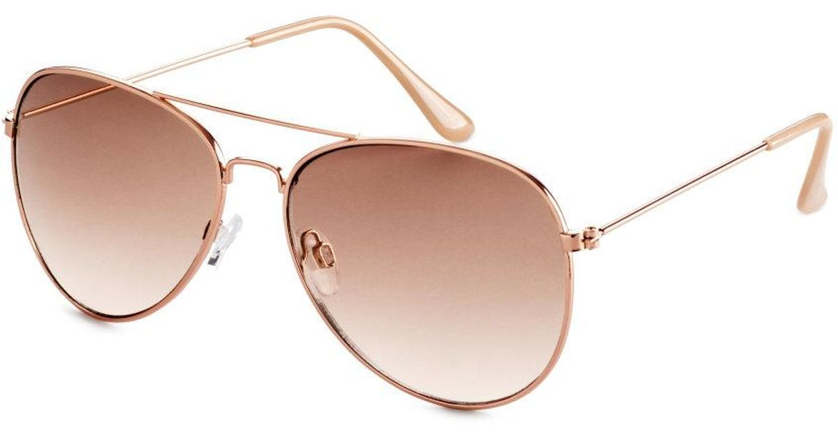H And M Sunglasses  h m sunglasses in metallic lyst