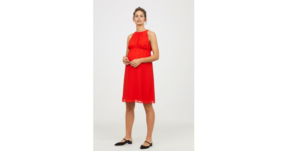 ecff3d18b7ea1e Lyst - H M Mama Sleeveless Dress in Red