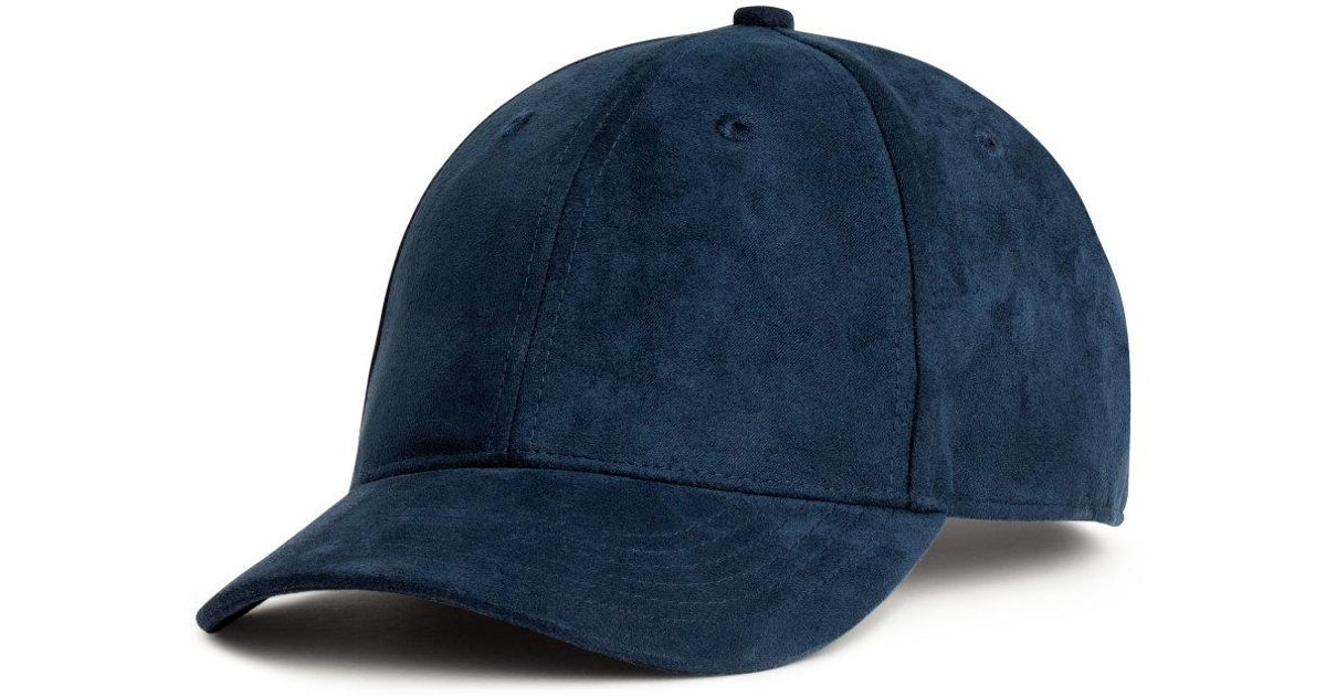 Lyst - H M Imitation Suede Cap in Blue for Men 489a856db2b