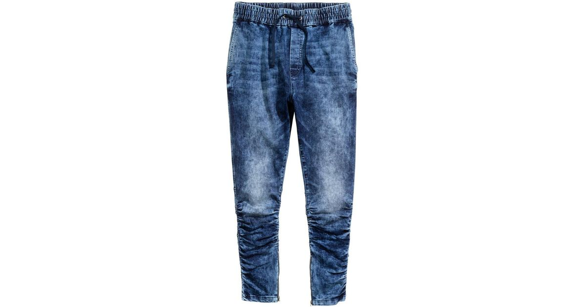 the cheapest new season new appearance H&M Blue Slim Low Joggers for men