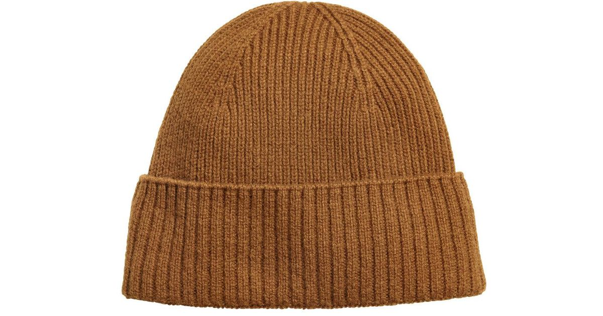 892da28c5b4 Lyst - H M Ribbed Cashmere Hat in Brown for Men