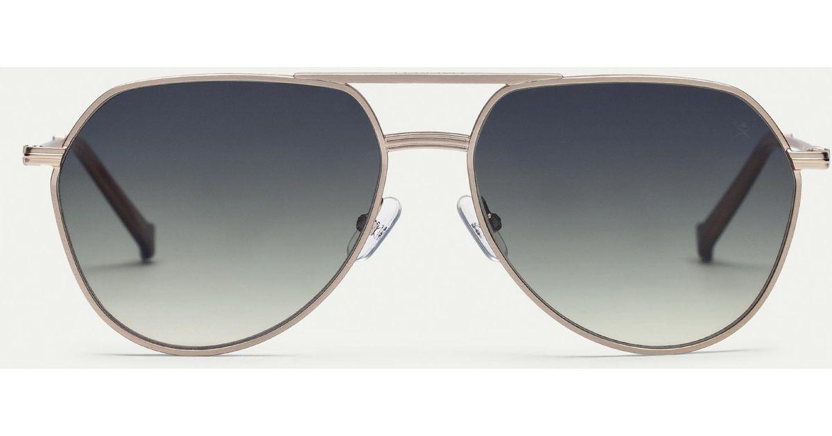 c4e89fd8c4f Hackett Aviator Carbon Fibre Sunglasses in Metallic for Men - Lyst
