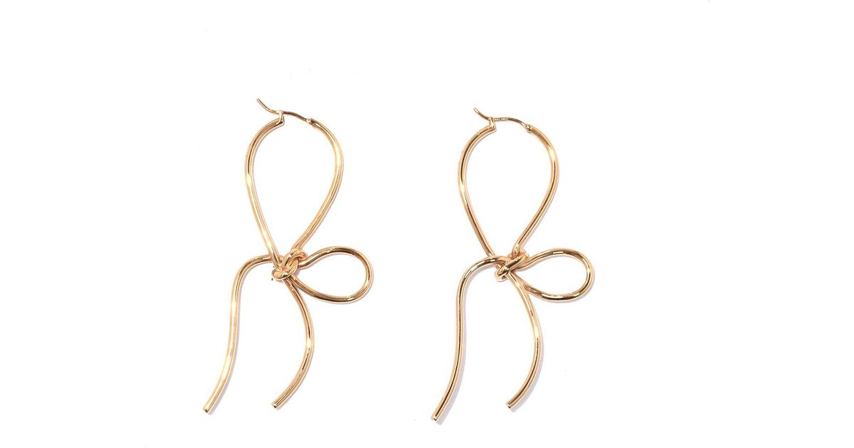 Gold plated bow earrings - Metallic Simone Rocha OAFAo