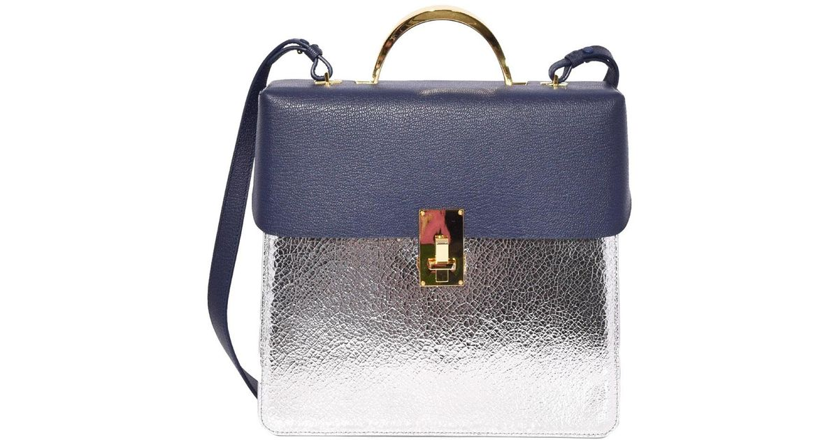 def2cb75fc75 Lyst - the VOLON Large Data Mix Bag In Navy silver in Blue