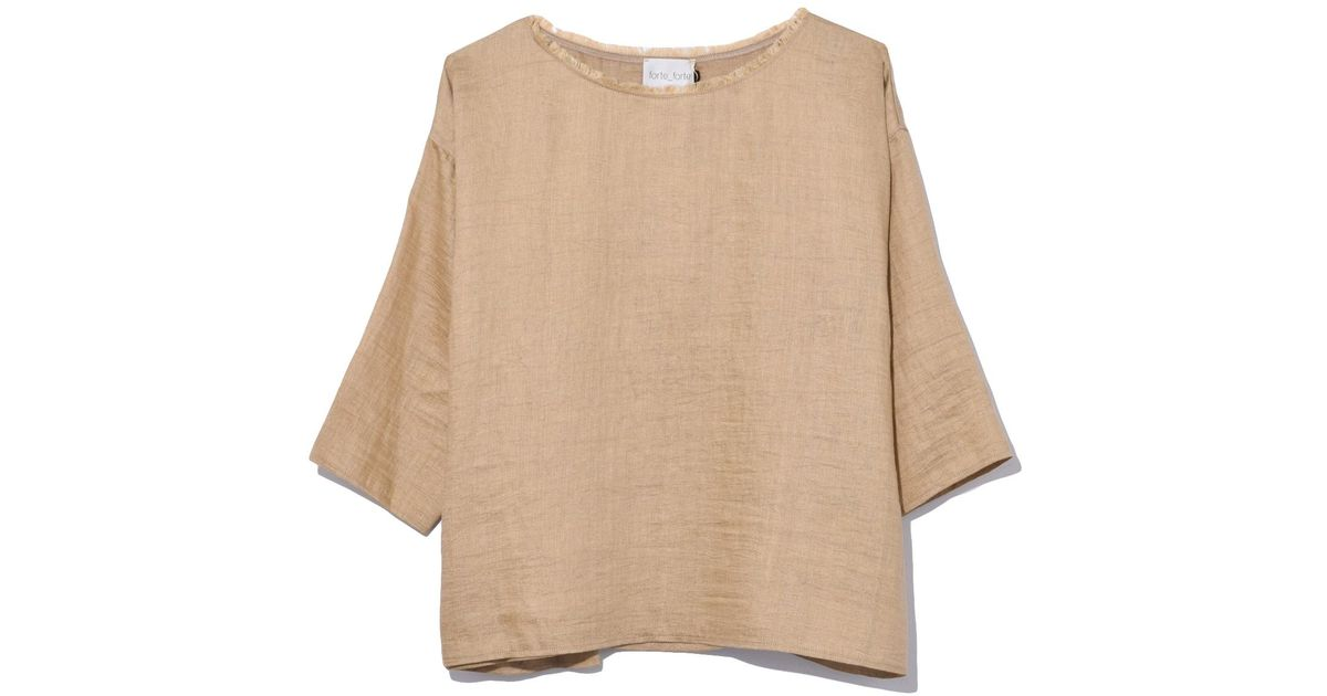 ba9aa9e5 Lyst - Forte Forte Shantung Canvas T-shirt In Oro in Natural