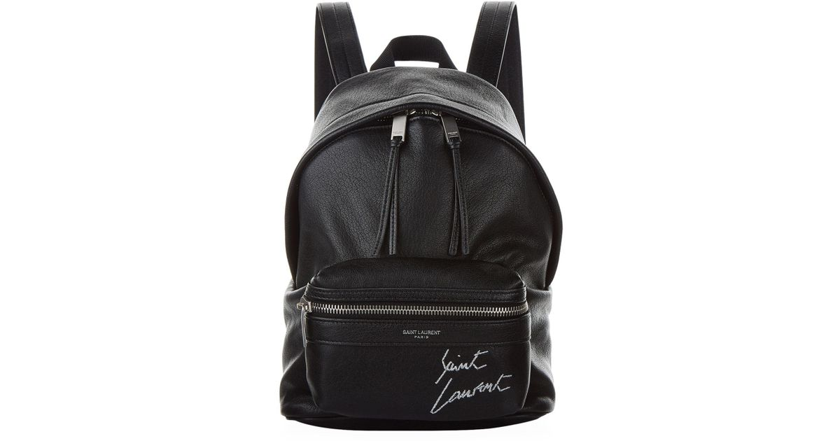 Lyst - Saint Laurent Mini Embroidered Toy City Backpack in Black 1ce523f9e1