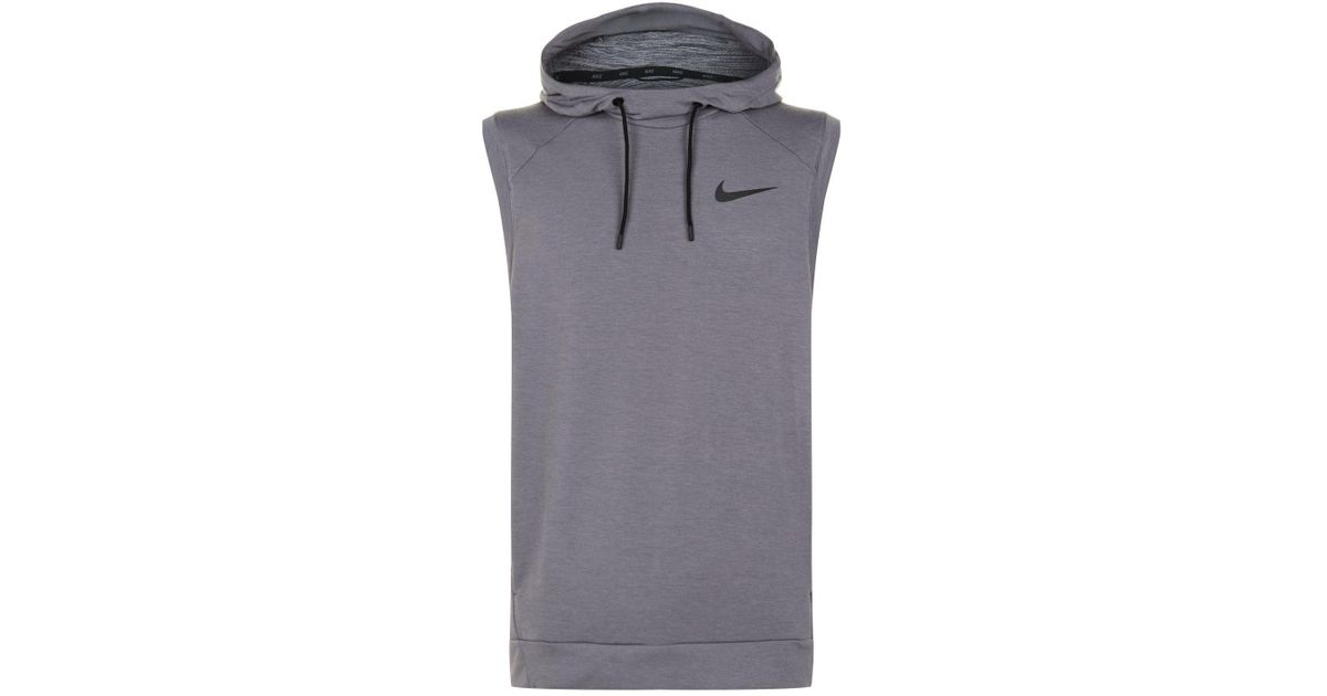 cheap for discount a0f6b 2aa33 Nike Dri-fit Sleeveless Hoodie in Gray for Men - Lyst