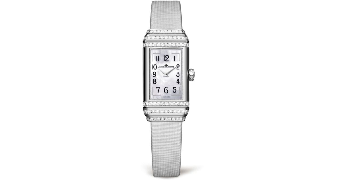 aee043fb682 Jaeger-lecoultre White Gold Reverso One Duetto Diamond Set Watch in  Metallic - Lyst