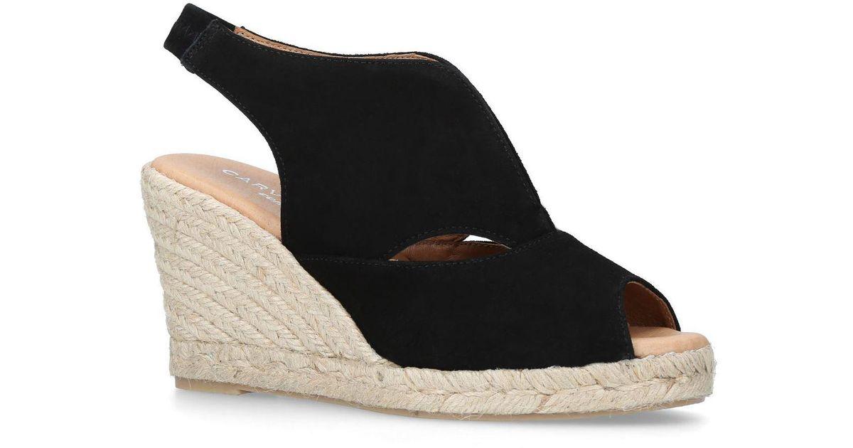 1be26120b268 Carvela Kurt Geiger Sara Wedge Sandals in Black - Lyst