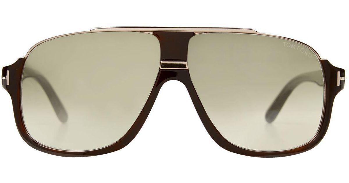 6b9e241f2f937 Lyst - Tom Ford Elliot Square Sunglasses in Brown