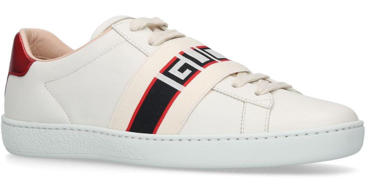 831e9277976 Lyst - Gucci Ace Elastic Band Sneakers in White