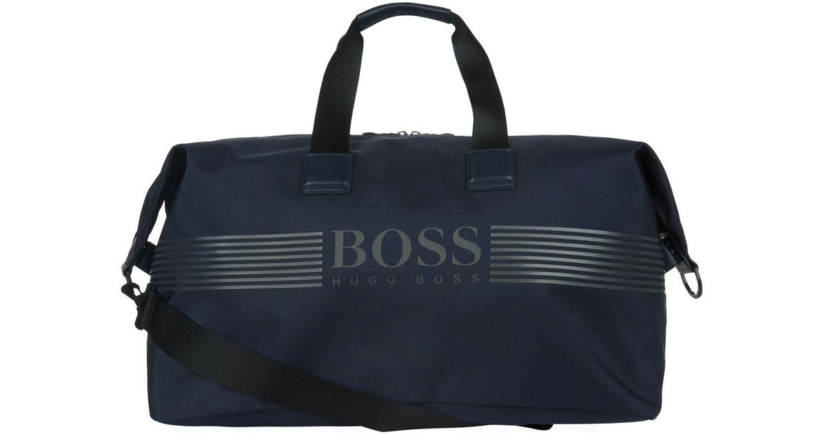9b565699b BOSS Nylon Pixel Holdall in Blue for Men - Lyst