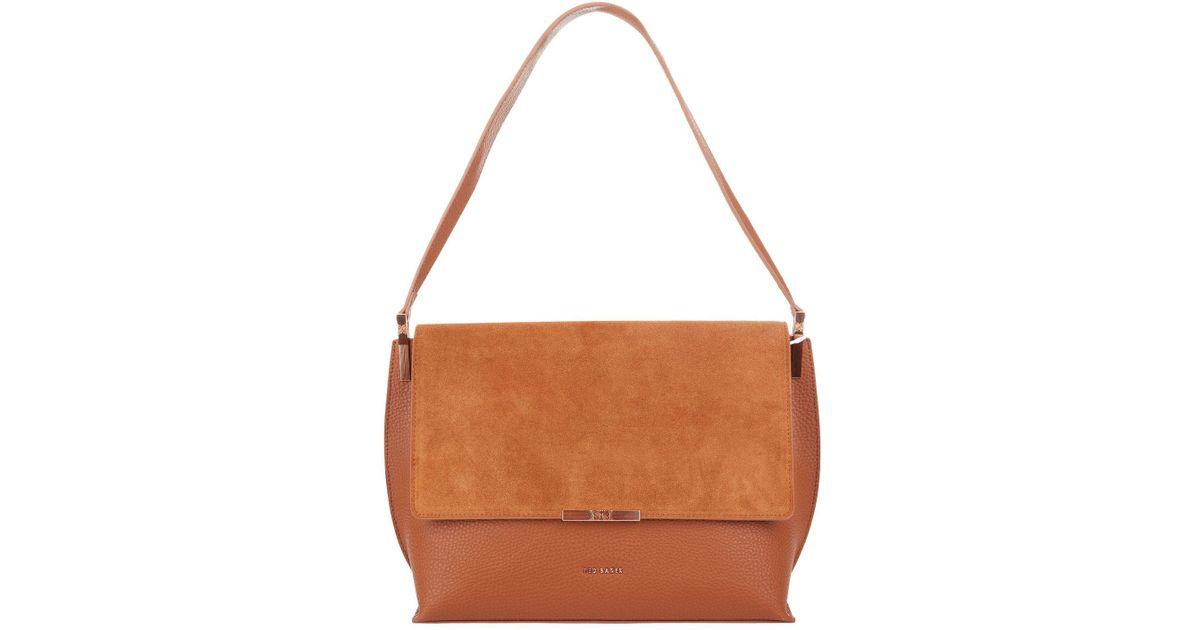 d5173b7e0 Ted Baker Katlynn Leather Shoulder Bag in Brown - Lyst