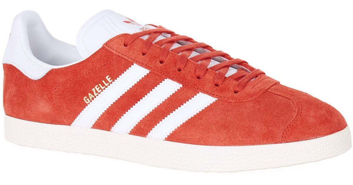 Men Adidas Red Lyst Sneakers In Gazelle Suede For Originals a0q0wz1HR