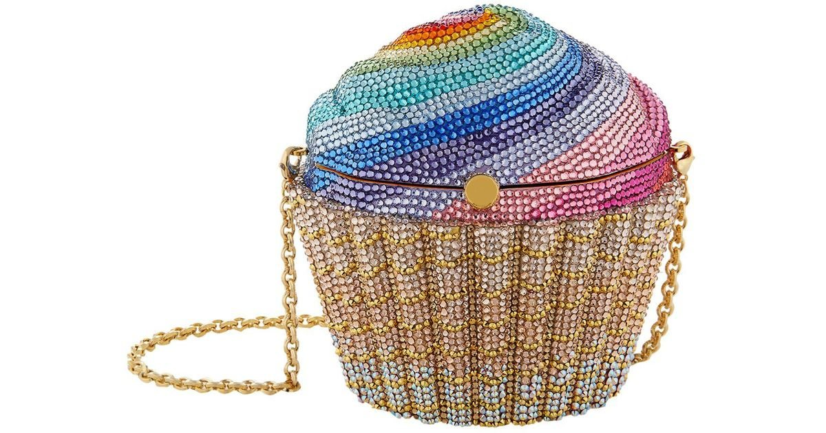 Judith Leiber Cupcake Rainbow Clutch Bag, Multicolor