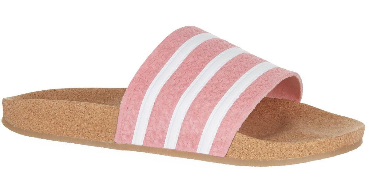66a0d772ae3 Lyst - adidas Originals Adilette Cork Slides in Gray