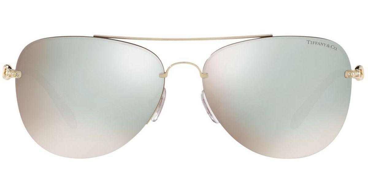 2838653c9efd4 Lyst - Tiffany   Co. Infinity Aviator Sunglasses