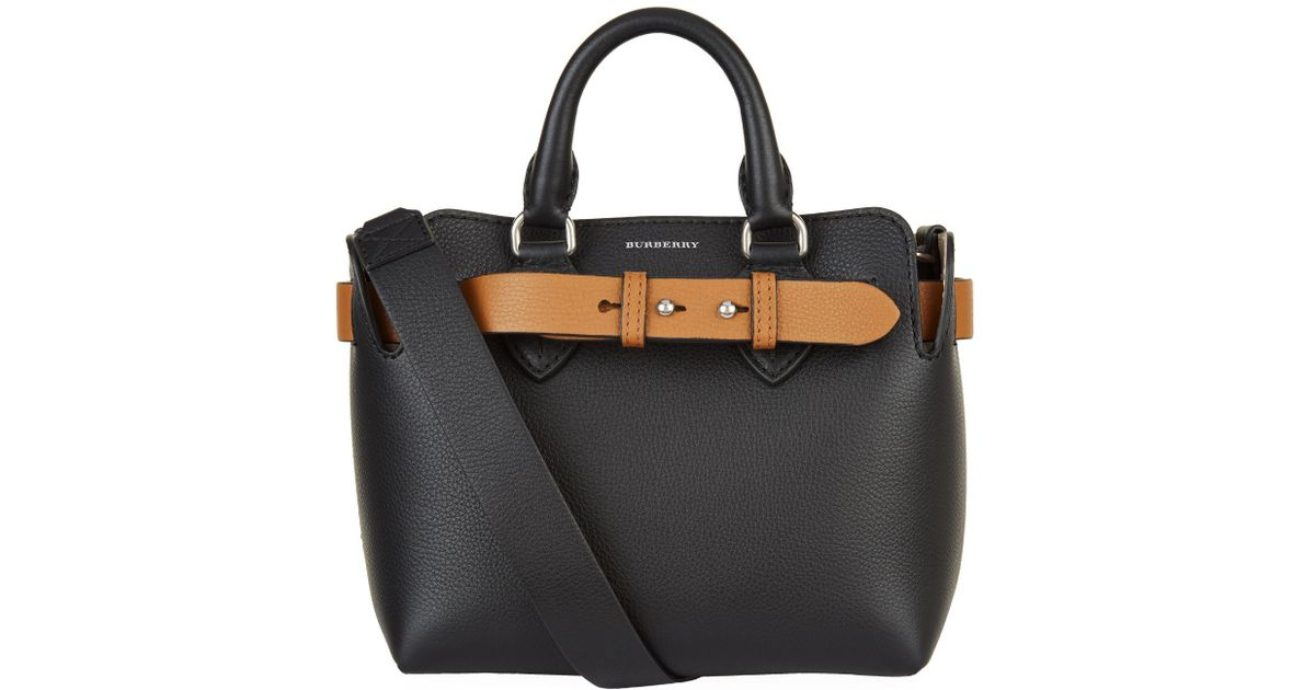 6474f375efc8 Lyst - Burberry Baby Leather Belt Bag in Black
